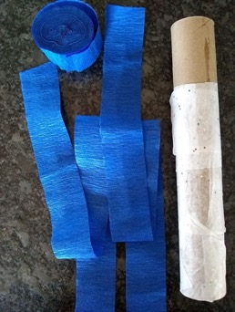 paper roll and streamers
