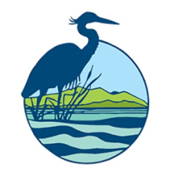 Pelican in water logo