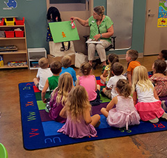 Group of kids at storytime