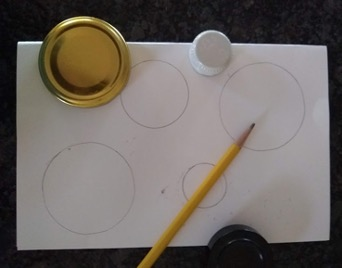 Circles traced on paper