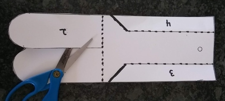 Cutting a line on the template