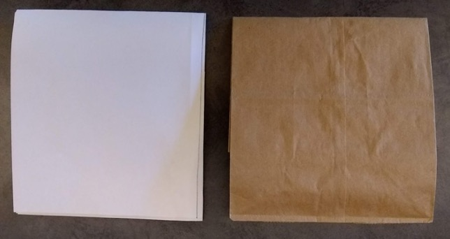 Folded paper and bag