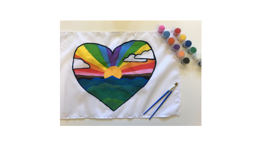 Completed Pride flag
