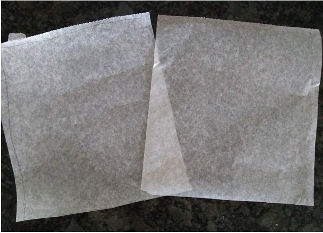 cut out wax paper